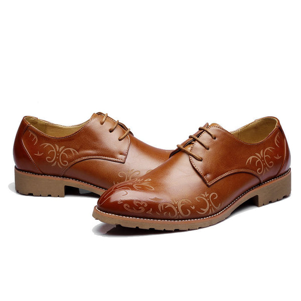 Shoes Leather Oxford available 3 colors Brown/Red/Black