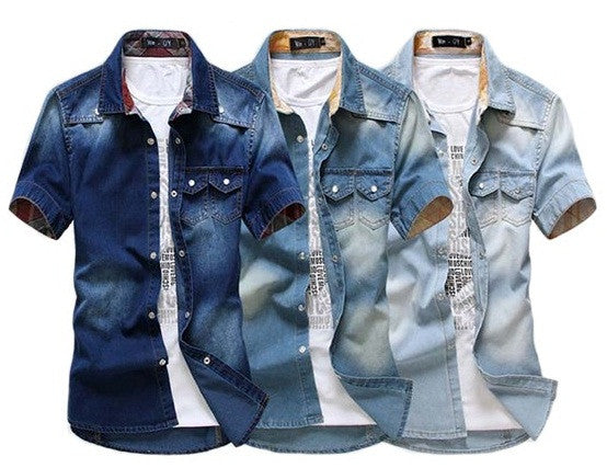 Denim Shirt Short Sleeve available in 3 colors