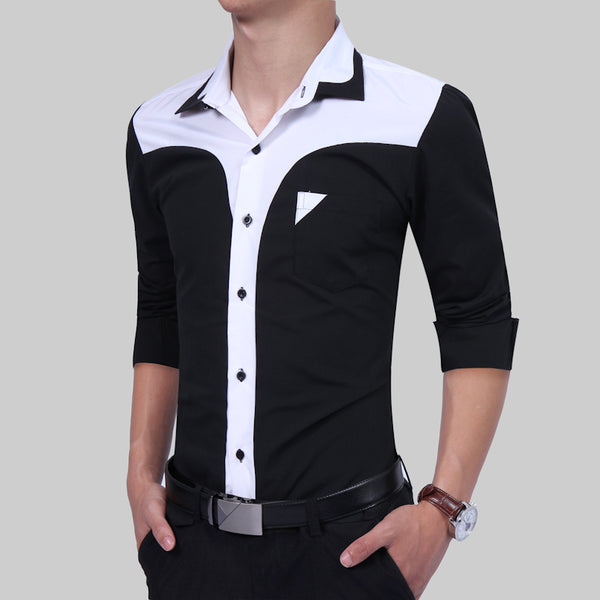 Mens shirt long-sleeves 3 colors.