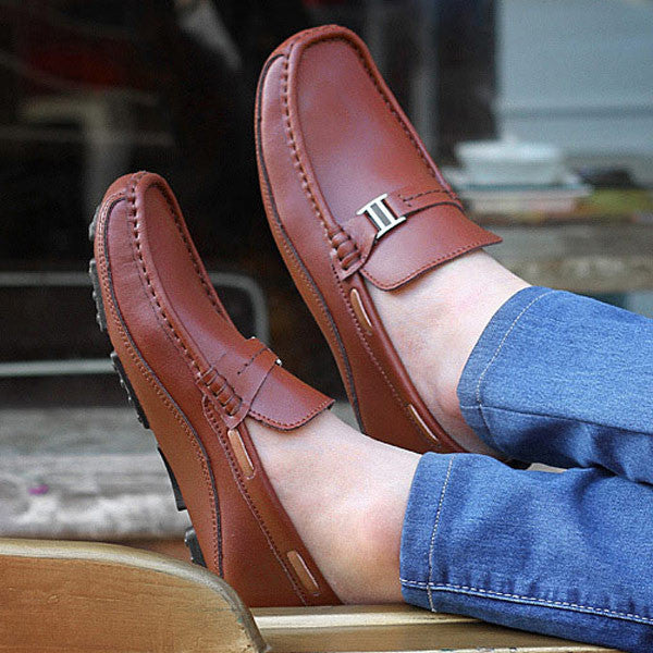 Leather Loafers available 3 colors black/blue/brown