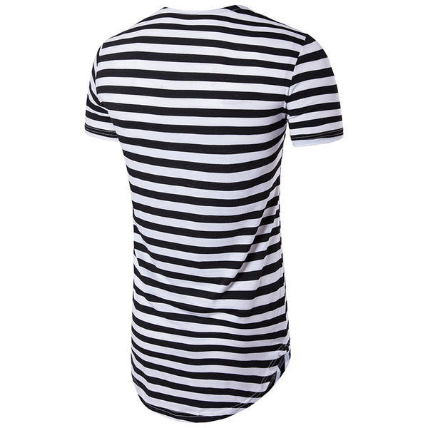 Men's T-shirt with short sleeves stripes 4 colors