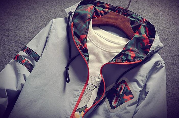 Men's windbreaker with a hood 4 colors