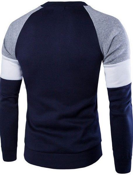 Sweatshirt Slim Sports available 2 colors navy blue/gray
