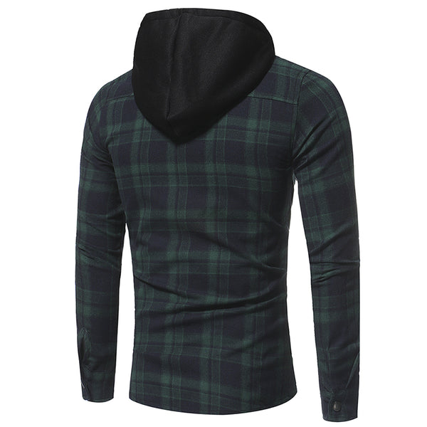 Men's shirt with long sleeves and a hood 3 colors