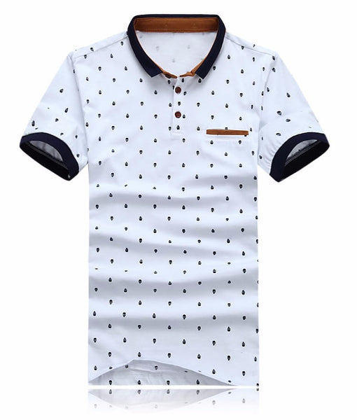 Casual Polo Shirt available (2 colors) white/blue