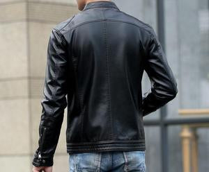 Mens short Leather Jacket available in 4 colors