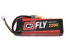 Venom Fly 50C 3S 2200mAh 11.1V LiPo Battery with UNI 2.0 Plug