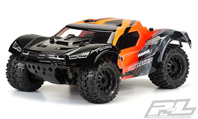 "Pre-Cut Monster Fusion Clear Body(for Slash 2wd & Slash 4x4 with 2.8"" MT Tires)"