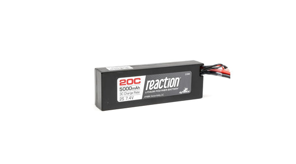 Reaction Battery 7.4V 5000mAh 2S 20C LiPo Hardcase: EC3 (DYN9004EC)