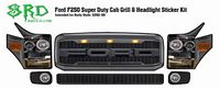 ford-f250-super-duty-pro-line-3392-00-half-cab-grill-head-light-sticker-kit