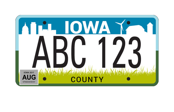 License plates NOT DECALS they're 100% aluminum!