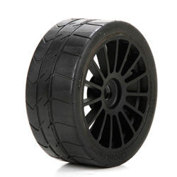 Long Wear Tire Black Wheel Mounted (2): 6IX