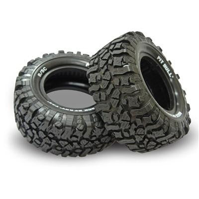 PITBULL - ROCK BEAST XOR 2.2/3.0 B/SC (BASHER EDITION) SCALE RC SHORT COURSE TIRES (SCT) // BASHER KOMPOUND (MEDIUM - 2 BOLTS) - 2tires+2foams