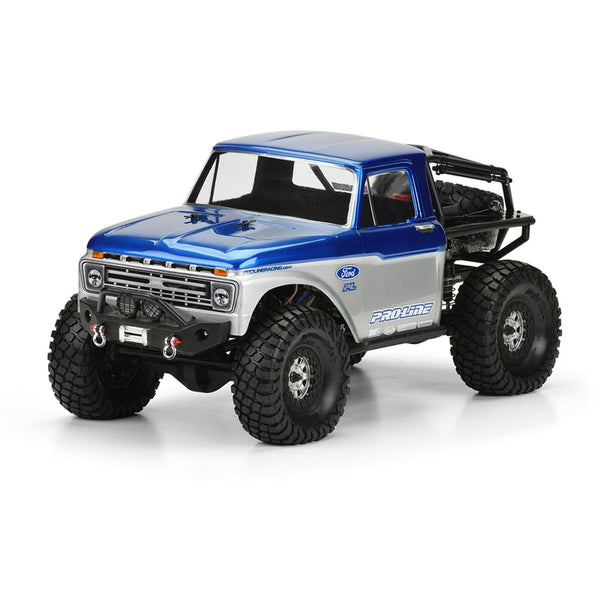 '66 Ford F100 Clear Body: SCX10 Trail Honcho 12.3 WB
