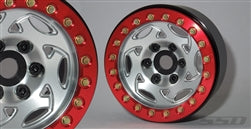"1.9"" Champion (Silver/Red) Beadlock Wheels"
