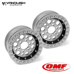 Vanquish Products OMF 1.9 Outlaw II Wheel Set Clear/Black