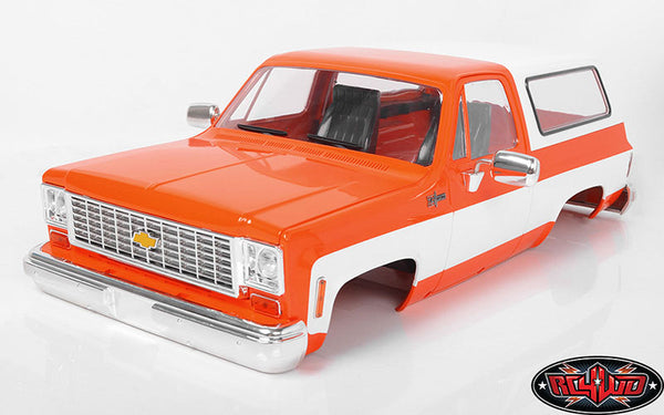 RC4WD CHEVROLET BLAZER HARD BODY COMPLETE SET (ORANGE)