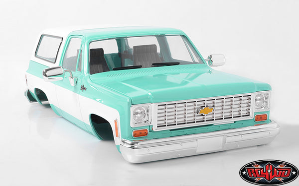 RC4WD CHEVROLET BLAZER HARD BODY COMPLETE SET (TEAL)