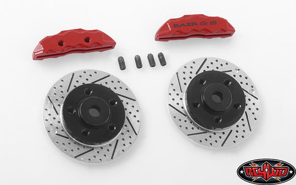 "RC4WD BAER BRAKE SYSTEMS ROTOR AND CALIPER SET FOR 1.9"" 5 LUG STEEL WHEELS"
