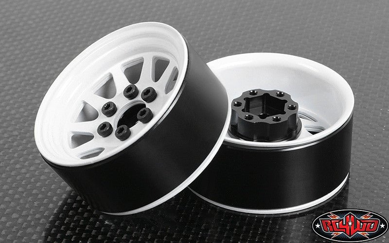 "OEM Stamped Steel 1.9"" Beadlock Wheels (White)"