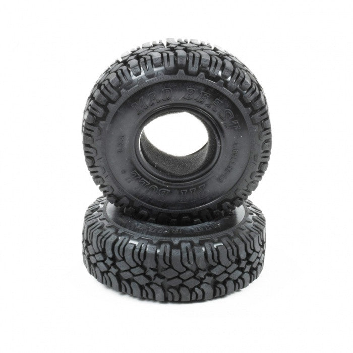 PITBULL - MAD BEAST 1.9 SCALE RC TIRES W/2 STAGE FOAM - 2pcs