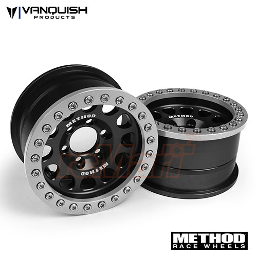 Vanquish Aluminum Method 1.9 Race Wheel 105 Black / Clear Anodized