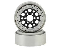 "Vanquish Products OMF Outlaw II 1.9"" Beadlock Wheels (Black/Clear) (2)"