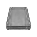 solid rectangle glass paver clear