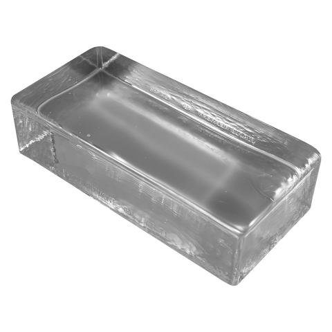 solid brick glass paver clear