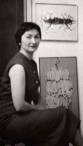 Jacques Hnizdovsky's wife in their Paris apartment