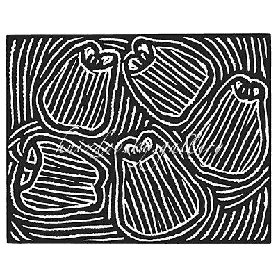 "Jacques Hnizdovsky, #013 Five Apples, linocut, 1951, 9"" x 11"" (image size)"