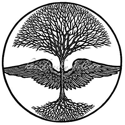"Jacques Hnizdovsky, #078 Winged Tree, woodcut, 1967, 6.5"" x 6.5"" (image size)"