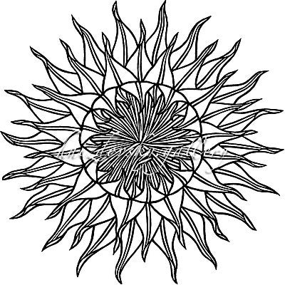 "#179 Sunflower, woodcut, 1974, 9"" x 9"" (image size)"