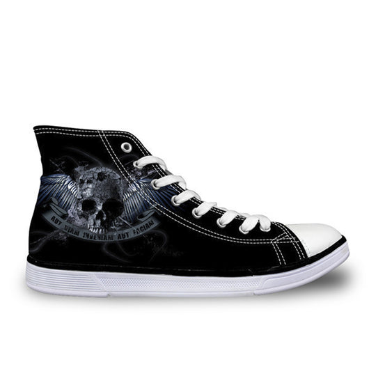 Punk Skull High Top Canvas Shoe for Men and Women
