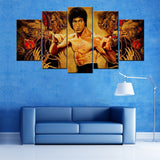 Bruce Lee 5 Piece Canvas Wallart - HD Quality