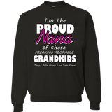 New I'm The Proud Nana Of These Freaking Adorable Grandkids Tshirt