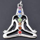 7 Colorful Stone Beads Reiki Chakra Life Charm Pendant Necklace