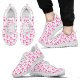 Funny Pink Cats Sneakers for Men's and Women's