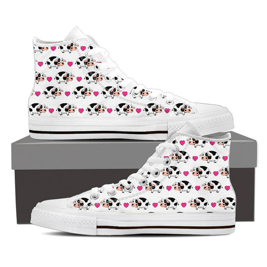 Cow & Heart Canvas Shoes for Men's and Women's