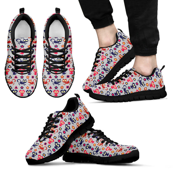 Scary Cats Dogs Sneakers for Men's and Women's