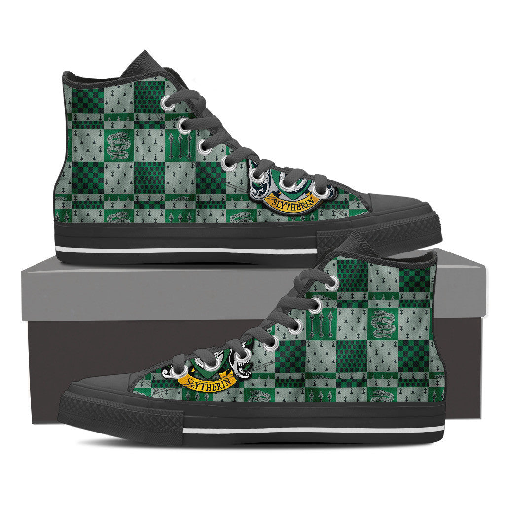 Harry Potter Slytherin High Top Canvas Shoe for Men's and Women's