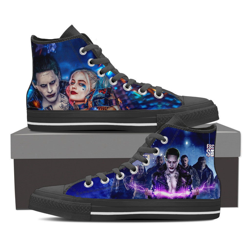Suicide Squad High Top Canvas Shoe For Men's and Women's