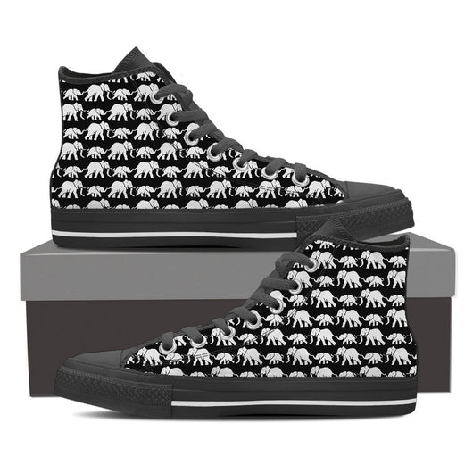 Elephants Pattern Canvas Shoe for Men's and Women's