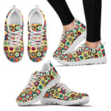 Colorful Pet's Paw Sneakers for Men's and Women's