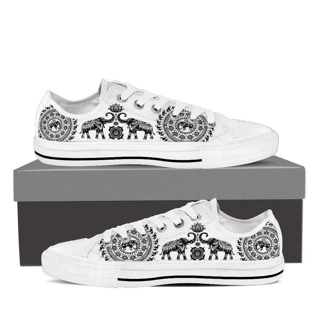 Elephant And Mandalas High Top & Low Top shoe For Men's & Women's