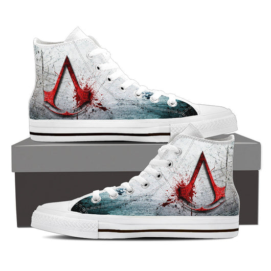 Assassin' s Creed High Top Canvas Shoe for Men's and Women's