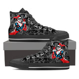 Harley Quinn High Top Canvas Shoe Black