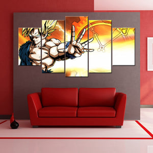 Dragon Ball Z Goku 5 PIECES CANVAS WALLART -HD QUALITY