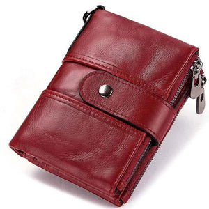 100% Genuine Full Grain Leather RFID Wallet For Men's