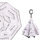 Creative Stand Windproof Double Reverse Umbrella